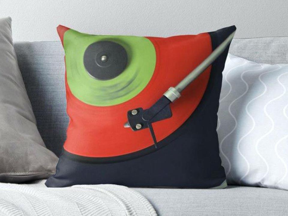 Phonograph Art Cushion