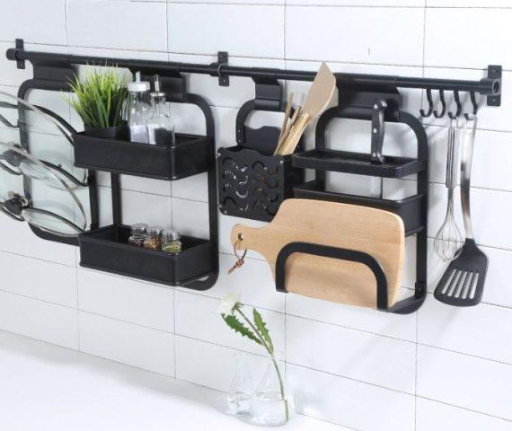 Wall mounted kitchen storage